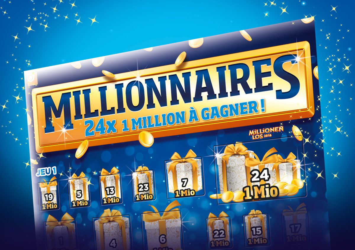 New and developed by Shine: the Loterie Romande's new premium ticket and campaign 'Millionaires'