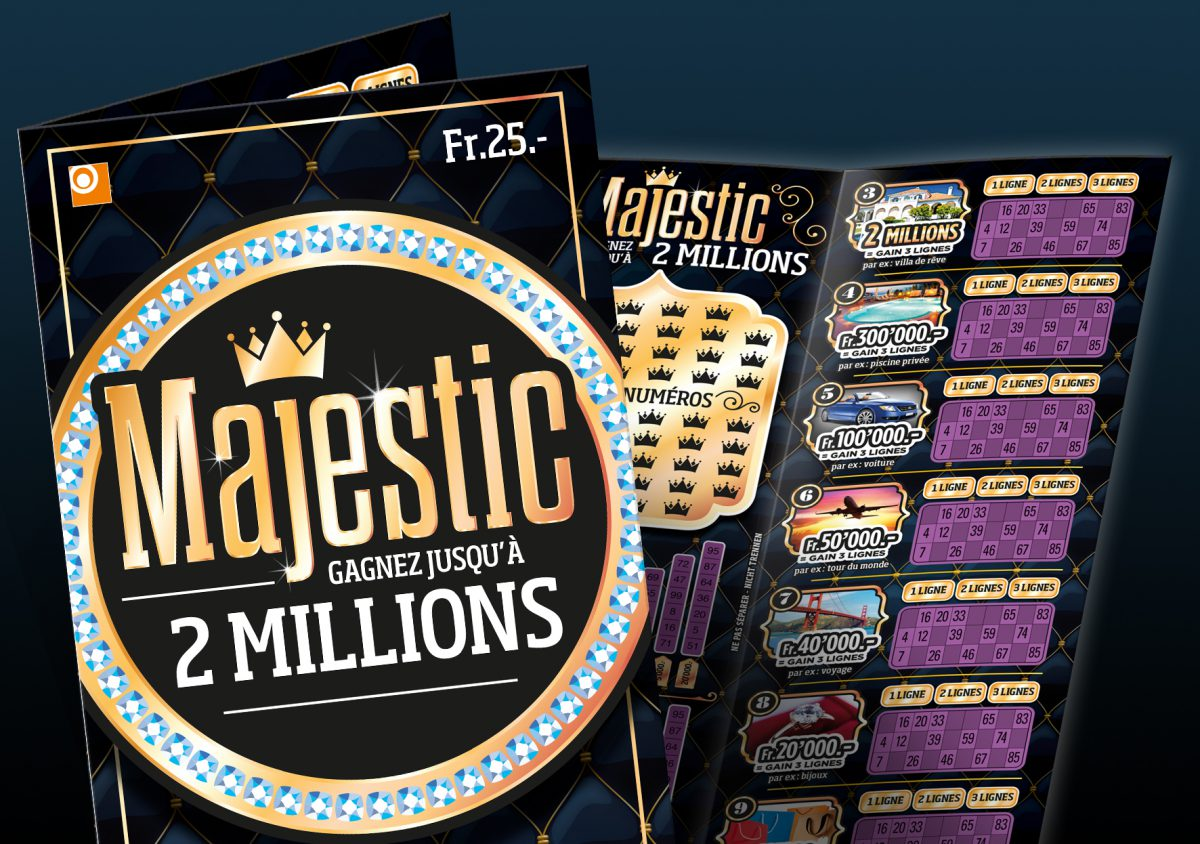Majestic, a new premium ticket for the Loterie Romande