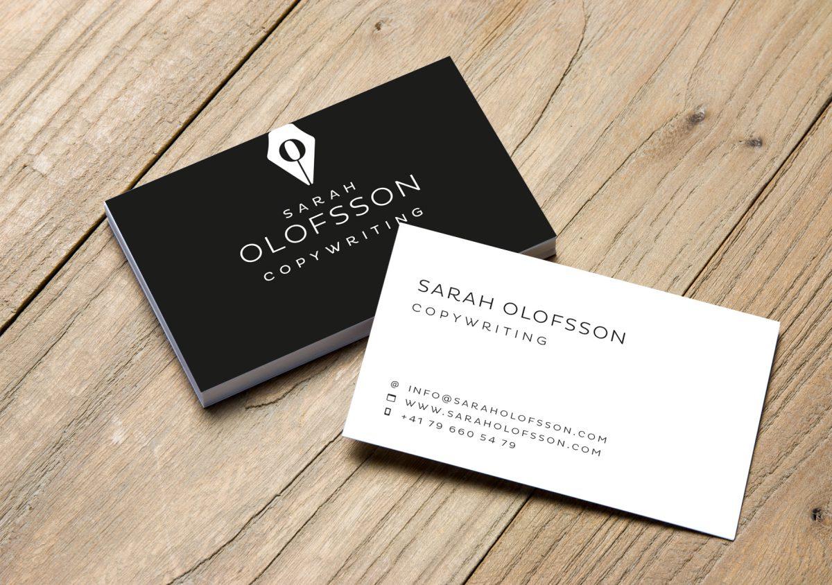 An elegant identity and website for Sarah Olofsson, Copywriter